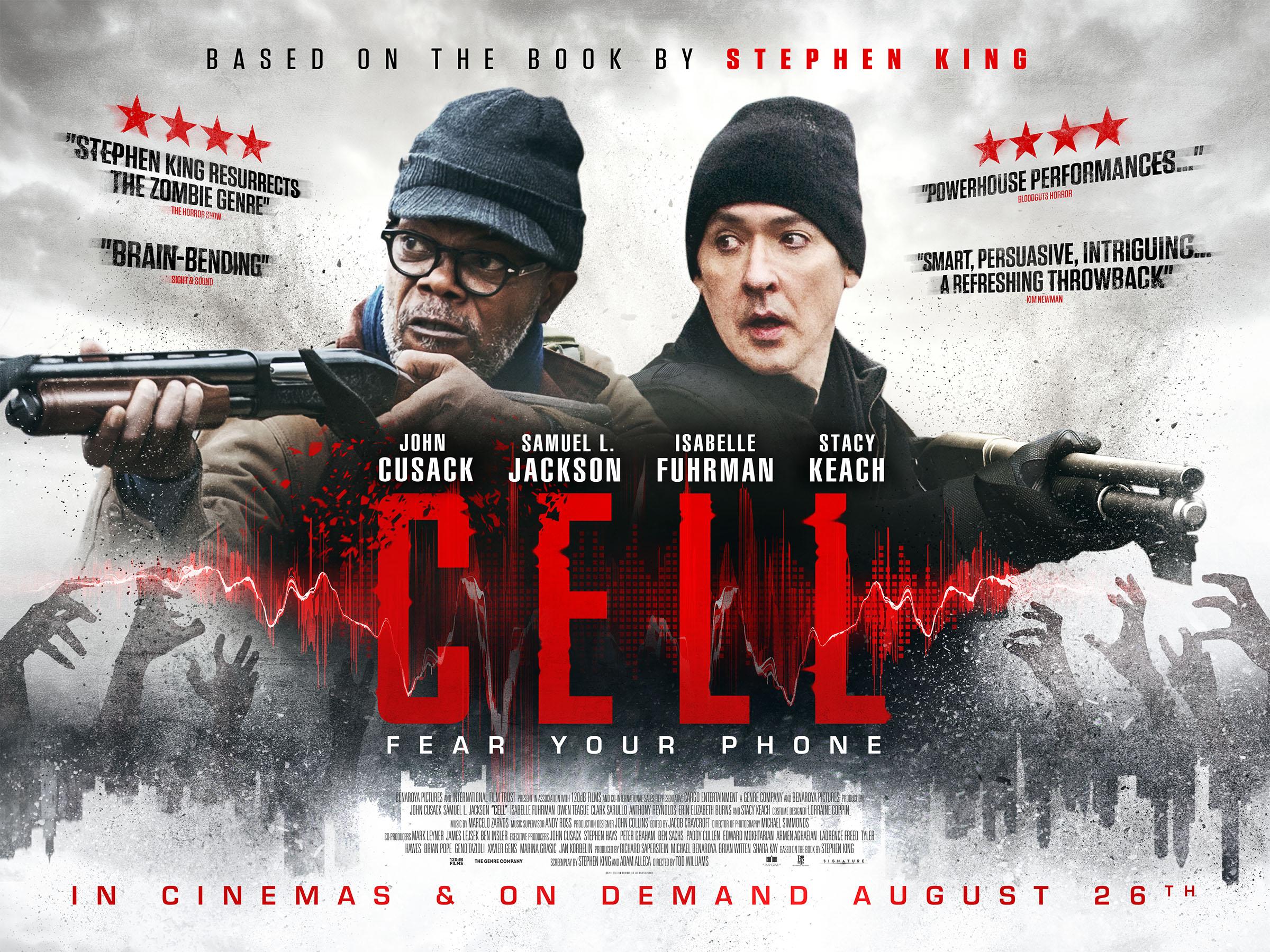 Cell, filme baseado em livro de Stephen King tem novo poster revelado