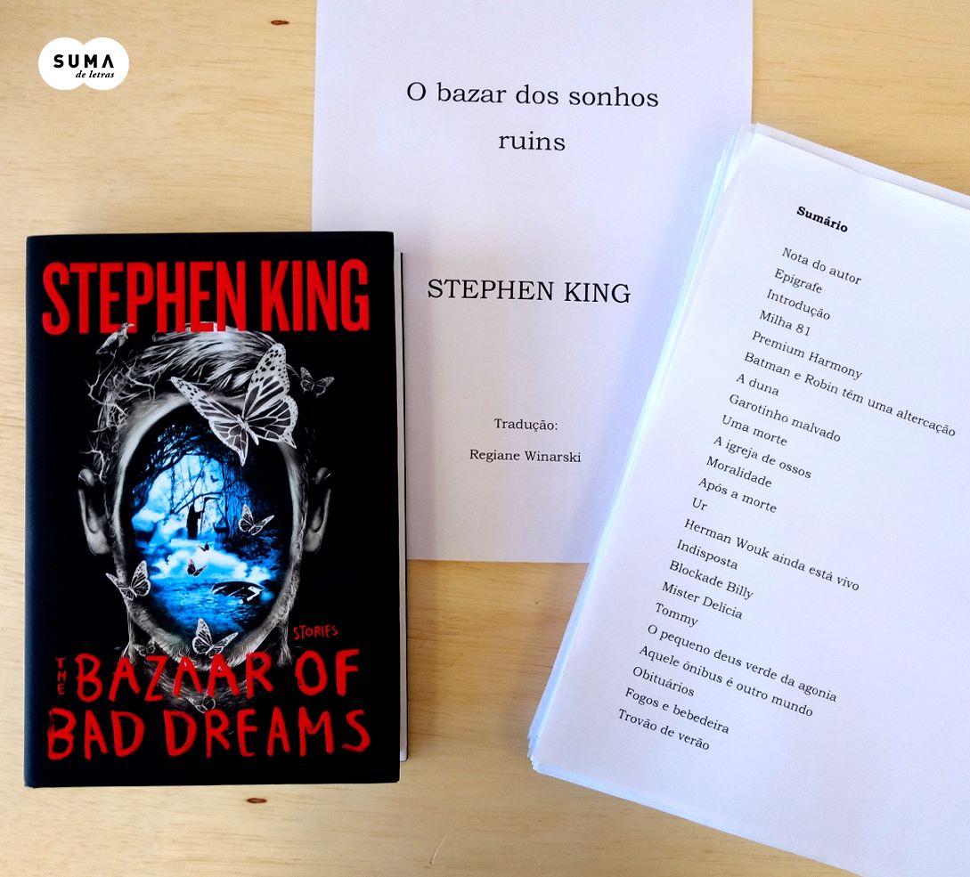 O bazar dos sonhos ruins de Stephen King, é revelado pela Suma de Letras