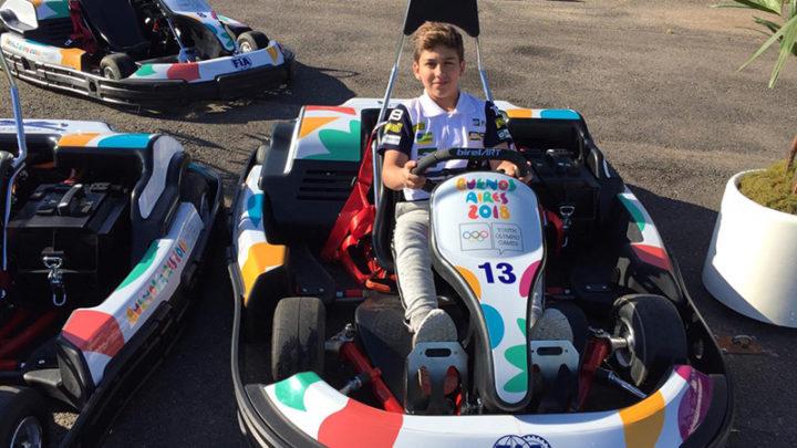 Gui Figueiredo participa de estreia dos karts elétricos nas Olimpíadas da Juventude