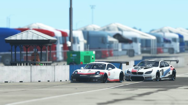 Porsche 911 GT3 R e BMW M6 GT3 presentes no rFactor2