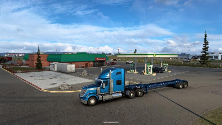 As paradas de caminhões do estado de Wyoming
