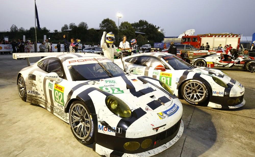 Porsche com dobradinha na classe GTE-PRO