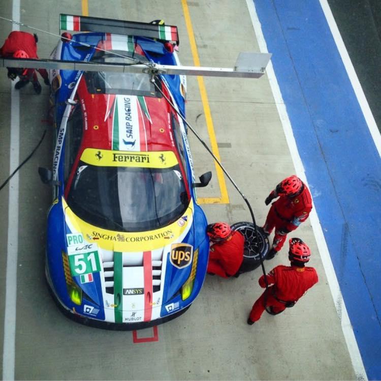 Na classe GTE-PRO a experiência de Gianmaria Bruni e Toni Vilander garantiu a vitória. (Foto: Divulgação WEC)