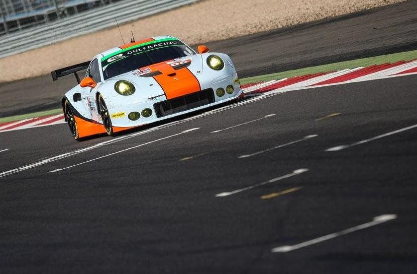 Porsche da Gulf vence na classe GTE. (Foto: Divulgação ELMS)