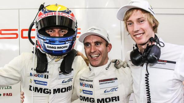"""Timo Bernhard (DEU) / Mark Webber (AUS) / Brendon Hartley (NZL) / Car #20 LMP1 Porsche Team (DEU) Porsche 919 Hybrid - 6 Hours of Sao Paulo at Interlagos Circuit - Sao Paulo - Brazil """