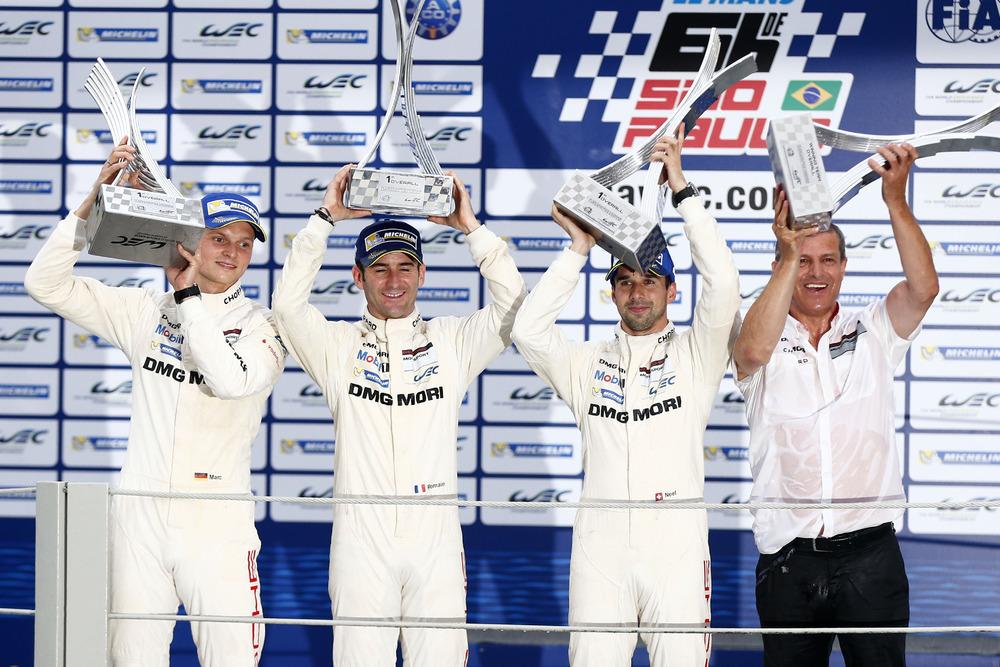 Primeira vitória da equipe em Interlagos em 2014 com Dumas / Jani / Lieb. (Foto: Porsche AG)