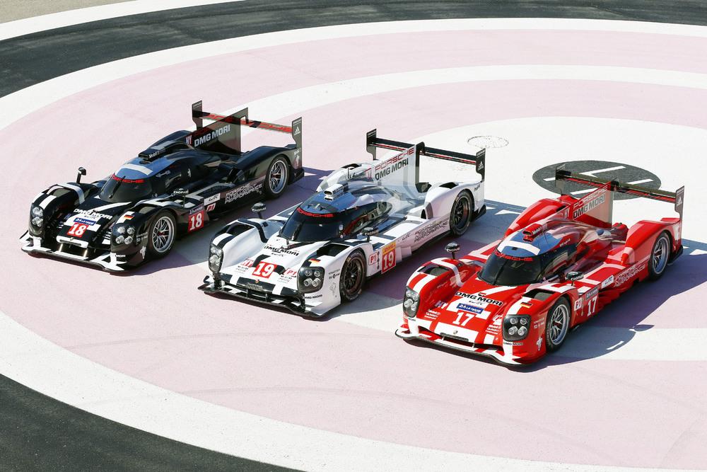 Porsche apresenta em Paul Ricard seus três carros para Le Mans. (Foto: Porsche AG)