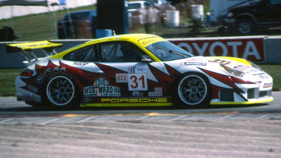 Na classe GT2 a vitória ficou com o Porsche #31. (Foto: RacingSportscar.com)