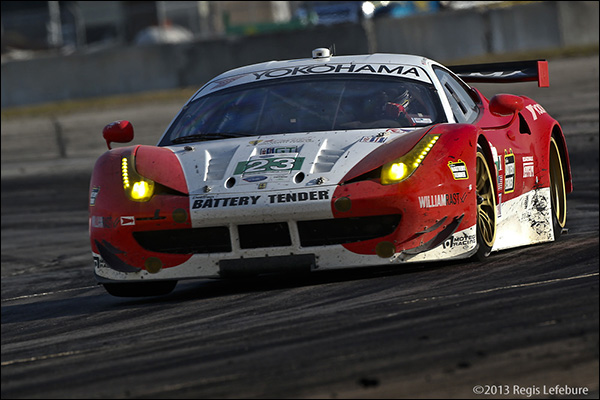 The AJR Ferrari Lost A Tire At Speed