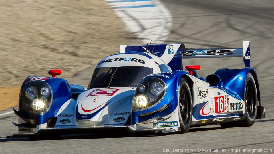 Motor a gasolina fez boas corridas na ALMS com o Lola da equipe Dyson. (Foto: Divulgação)