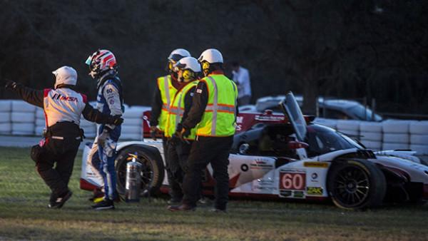 Acidente já aconteceu durante as 24 horas de Daytona com Oswaldo Negri ao volante. (Foto: Brian Cleary)