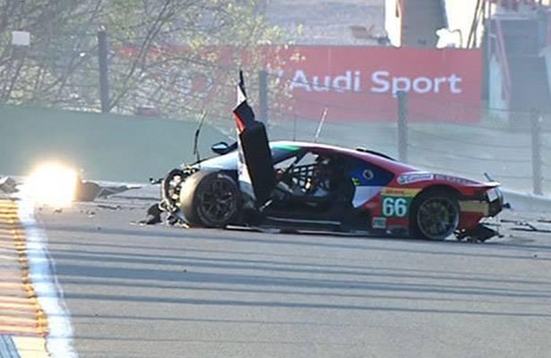 O acidente mais grave da prova aconteceu com  Stefan Mucke, após bater na temida Eau Rouge. (Foto: Internet)