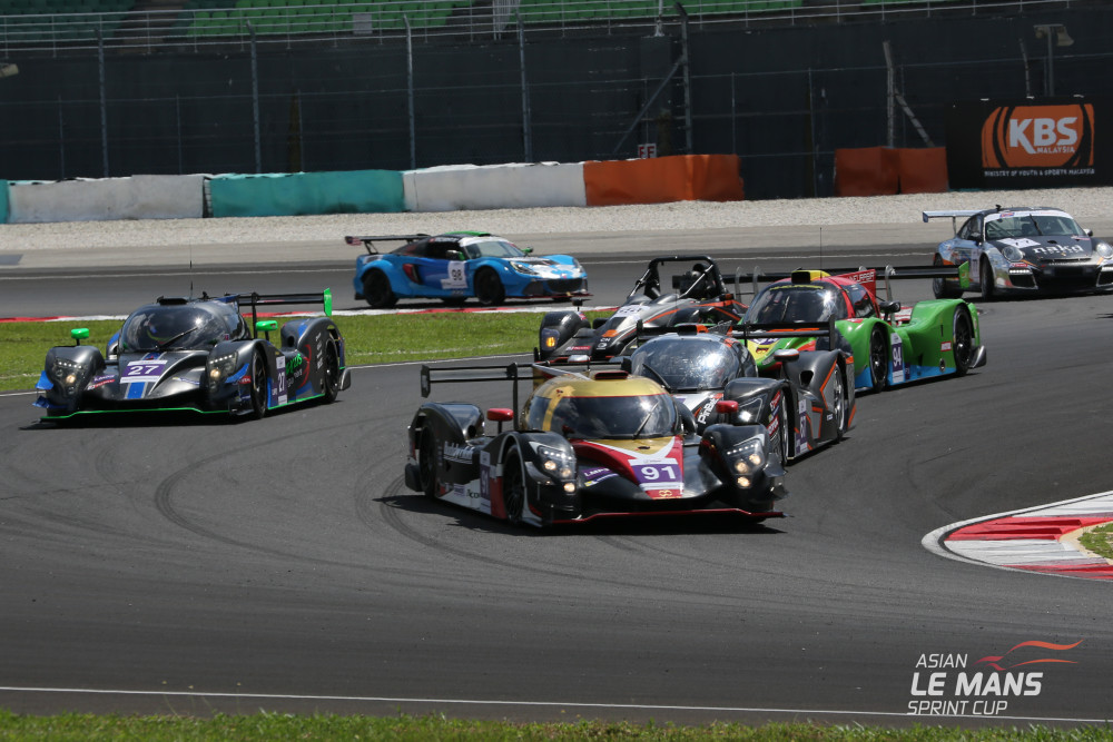 Nove carros estiveram na disputa. (Foto: Asian LMS)