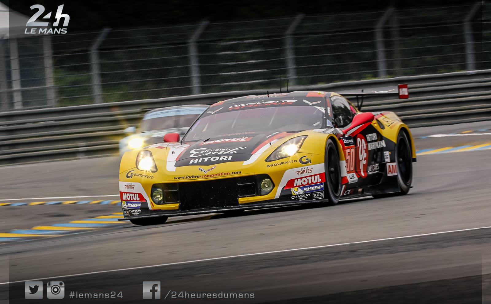 Corvette #50 da Larbre Competition também mostra serviço na classe GTE-AM.