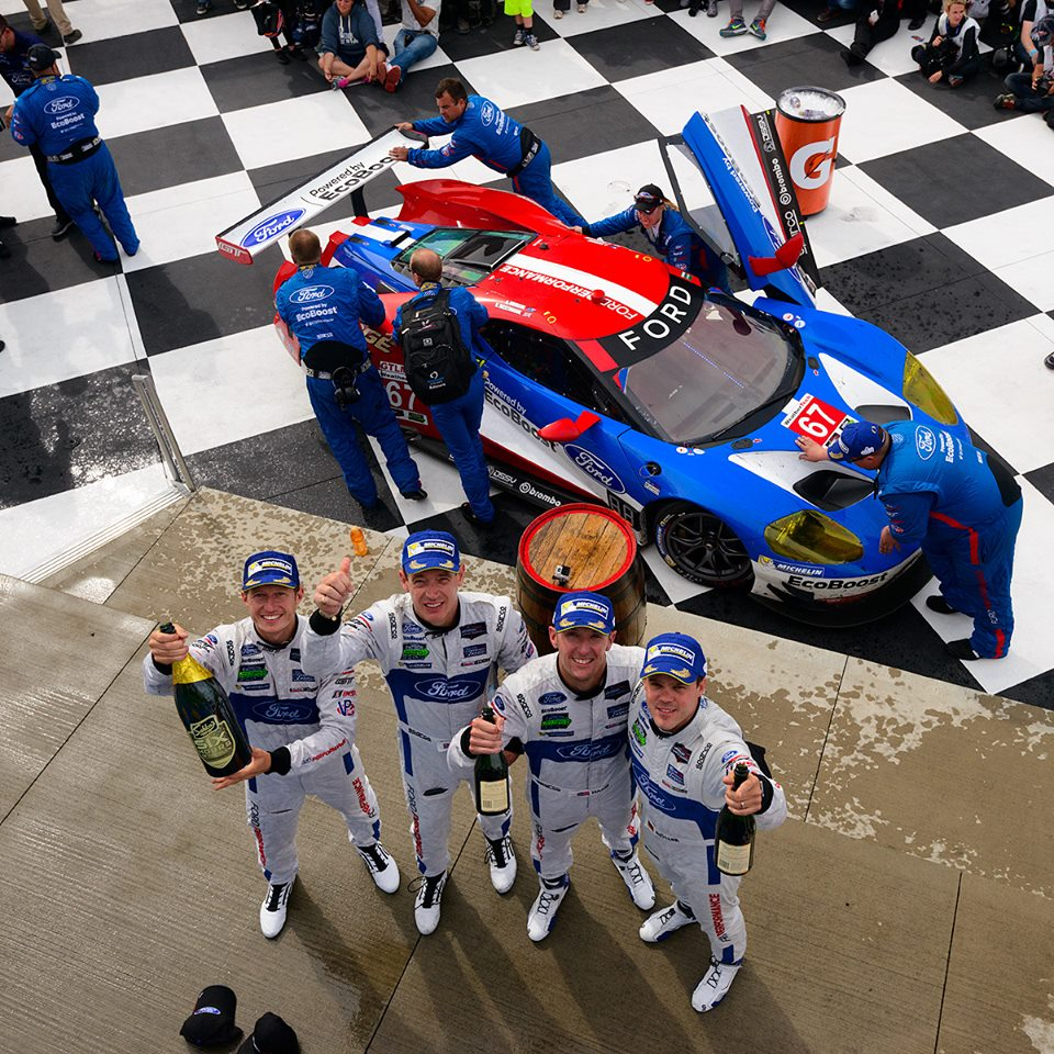 Ford vence na classe GTLM. (Foto: Ford Performance)
