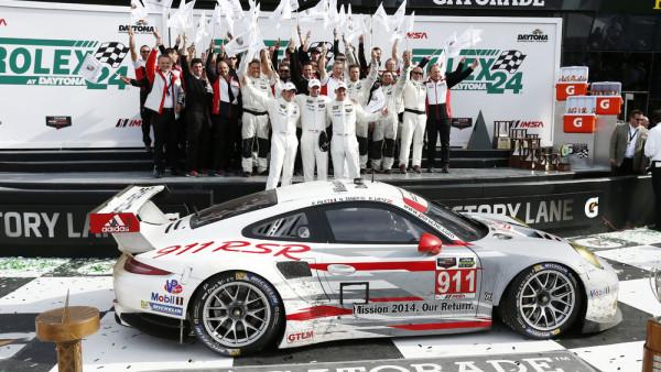 Vitória na abertura do TUSC em 2014 nas 24 horas de Daytona. (Foto: Porsche AG)