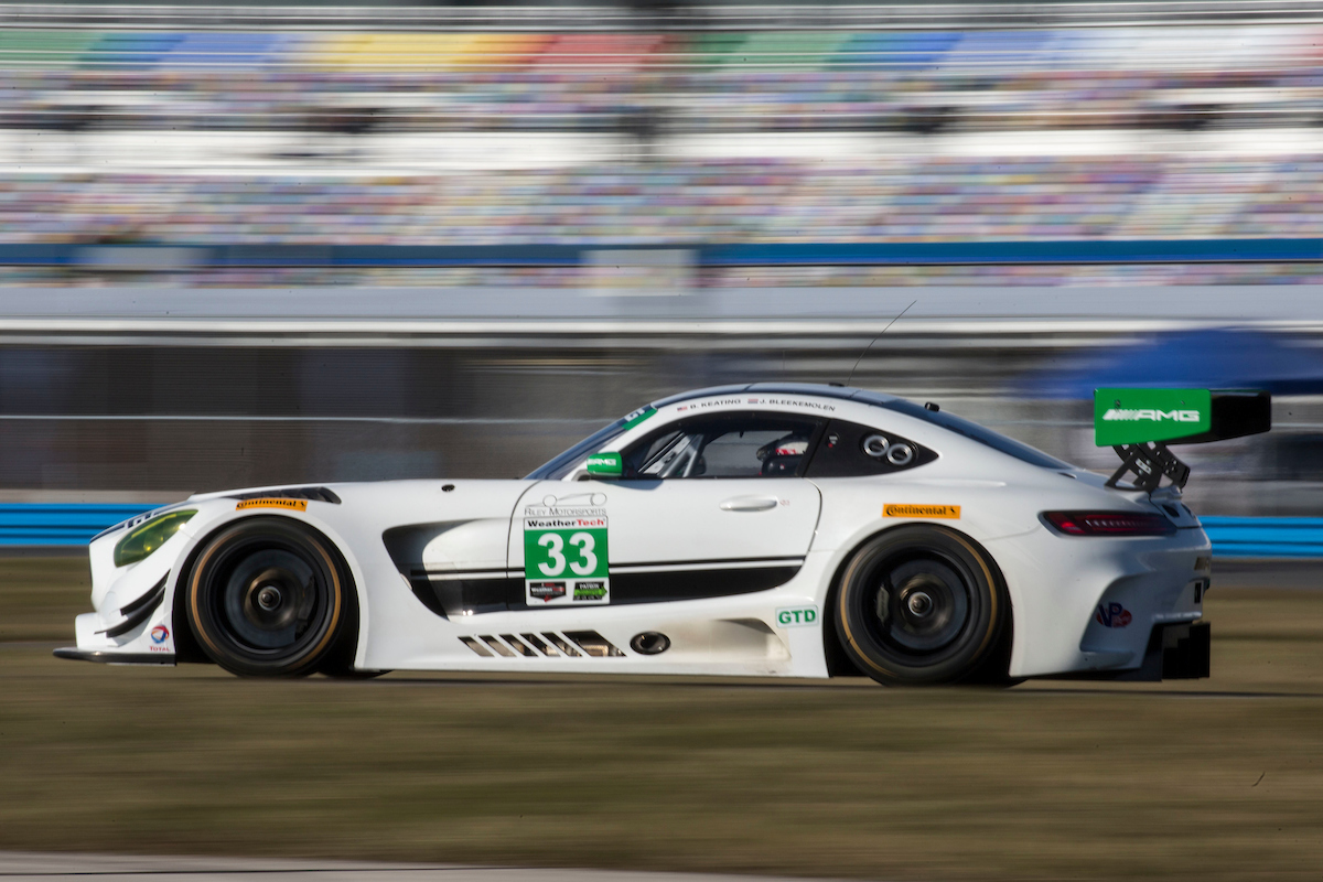 Mercedes GT3 AMG com as cores da Riley Motorsports. (Foto:  Brian Cleary/bcpix.com)