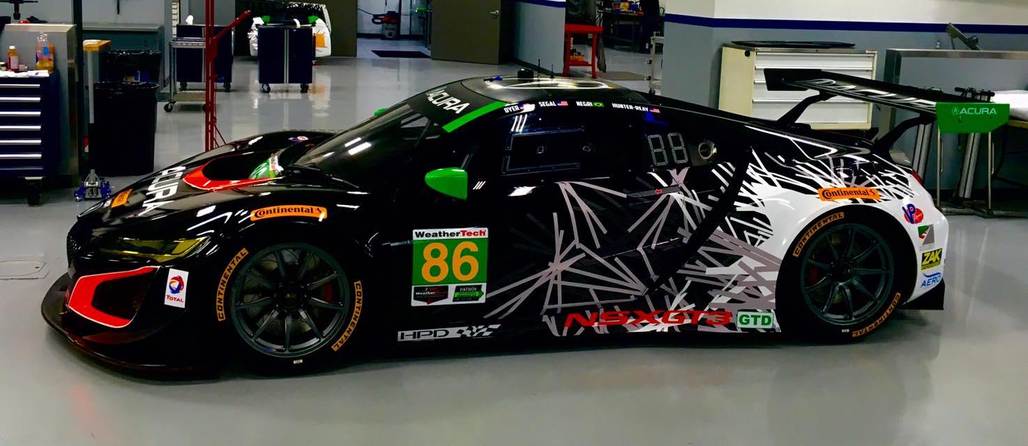 (Novo Acura da classe GTD, também passou pelo ajuste. (foto: Michael Shank Racing)