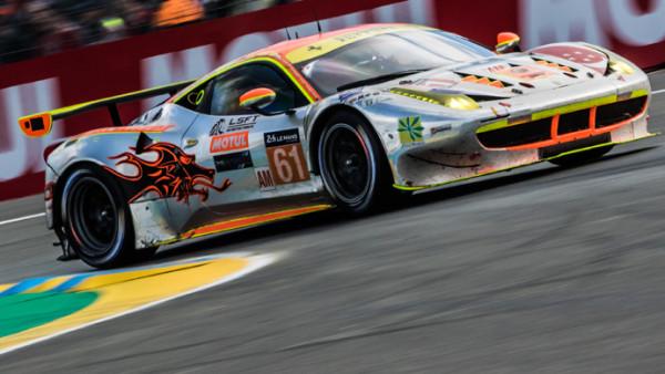 Estreando na classe GTE-PRO, a Ferrari da Clearwater Racing. (Foto: AdrenalMedia)
