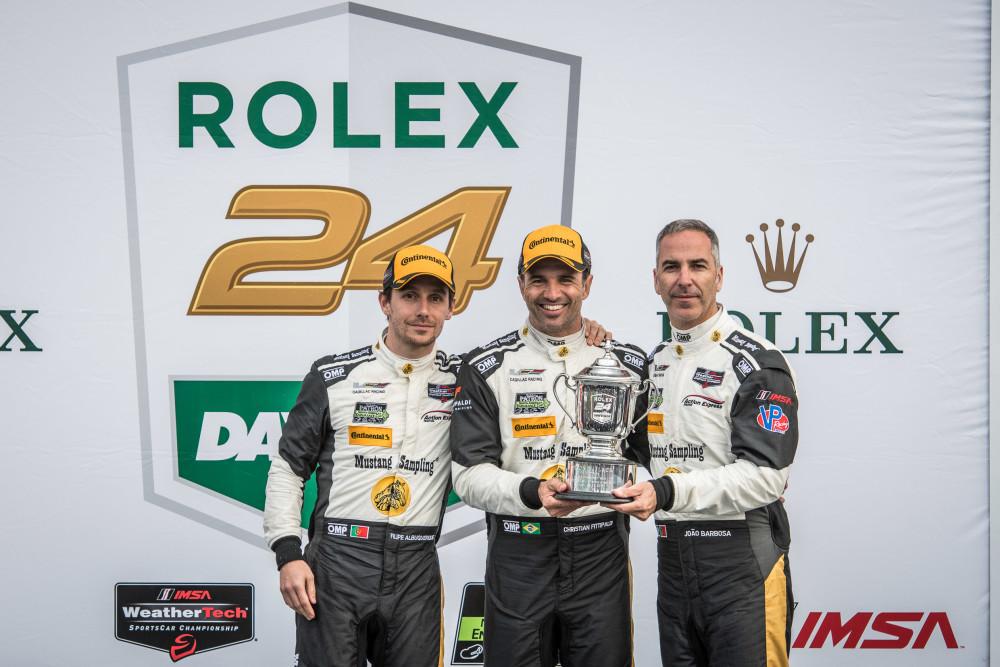 O trio no pódio em Daytona em janeiro  (José Mário Dias)