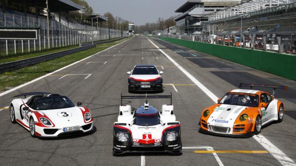 Porsche 918, 919 e 911 GT3-R Hybrid. Evolução. (Foto: Porsche AG)
