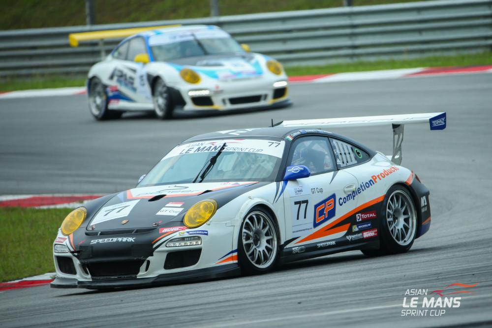 Porsche #77 vence na classe GT3 Cup. (Foto: Asian LMS)