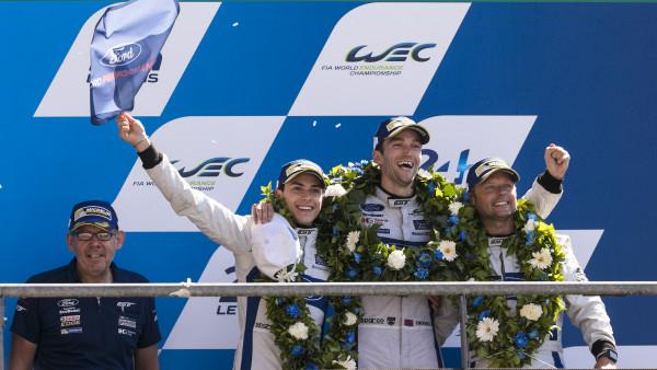 Brasileiro dividiu Ford GT com Andy Priaulx e Harry Tincknell. (Foto: Ford)
