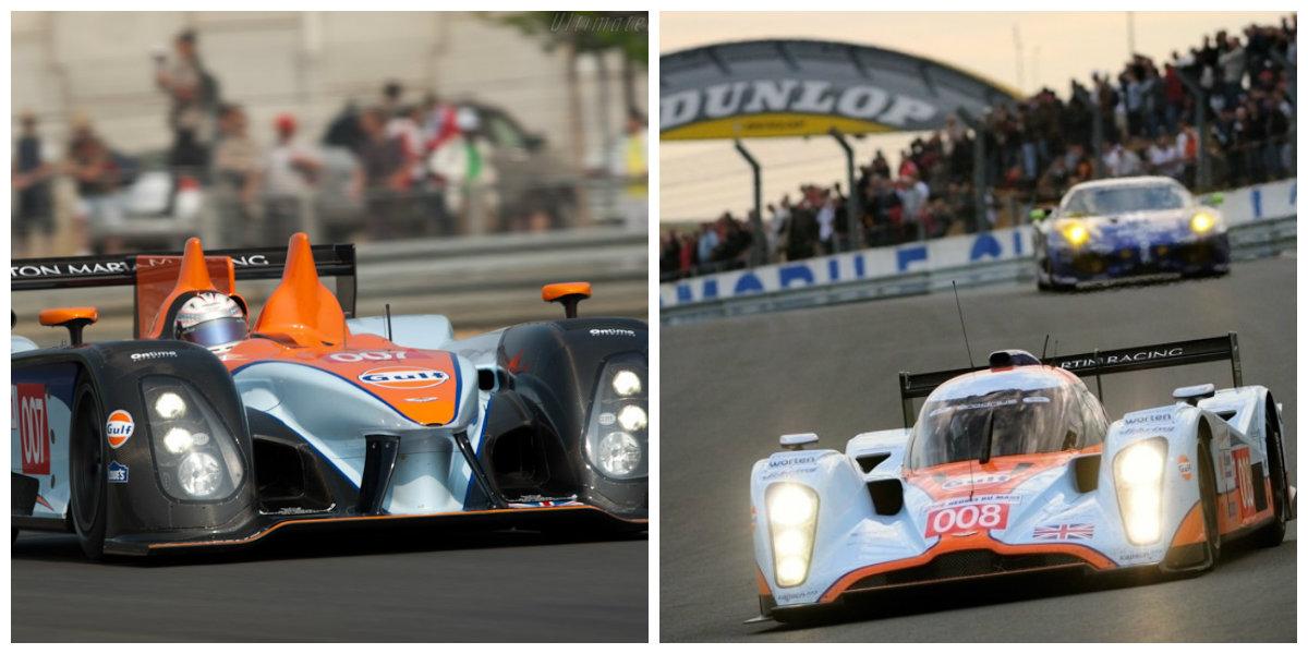 AMR-ONE e B09/60. O primeiro sequer correu. O segundo não conseguiu fazer frente aos modelos diesel. (Foto: Aston Martins e Ultimate Carpage)