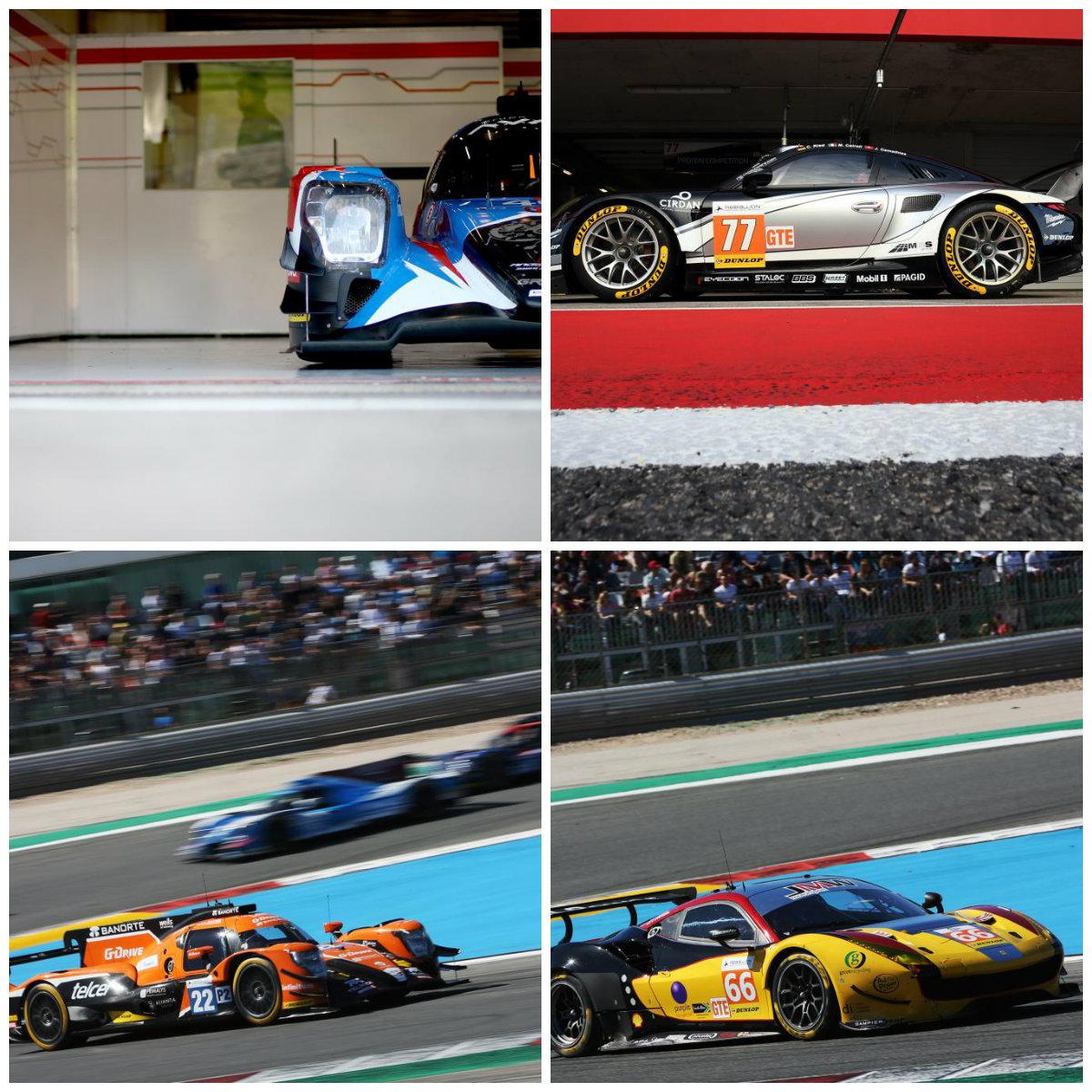 Vencedores da corrida em cima: (Graff Racing e Proton Competitiom). Campeões em baixo: (G-Drive e JMW Motorsports). Fotos: ELMS
