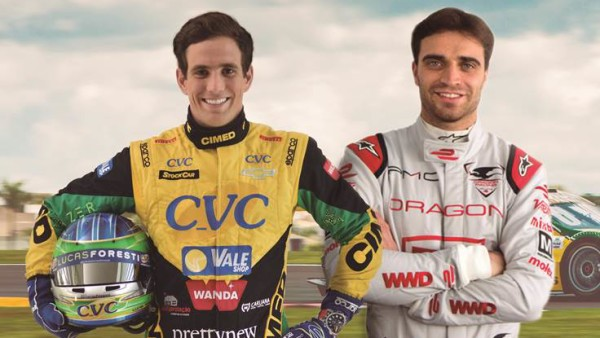 Lucas Foresti e Jérôme D'Ambrosio. (Foto: Divulgação)