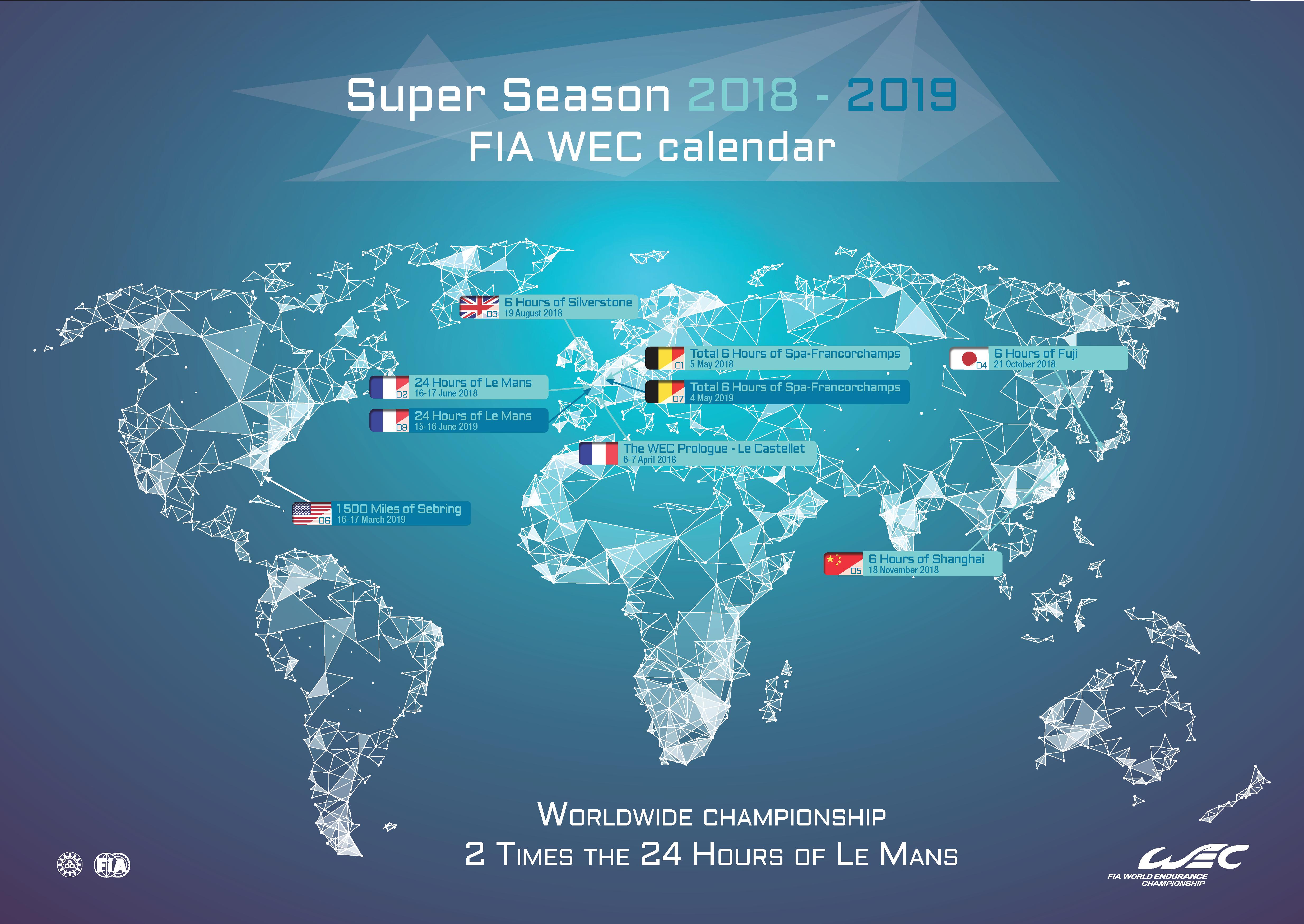 FIA WEC Calendar Super Season