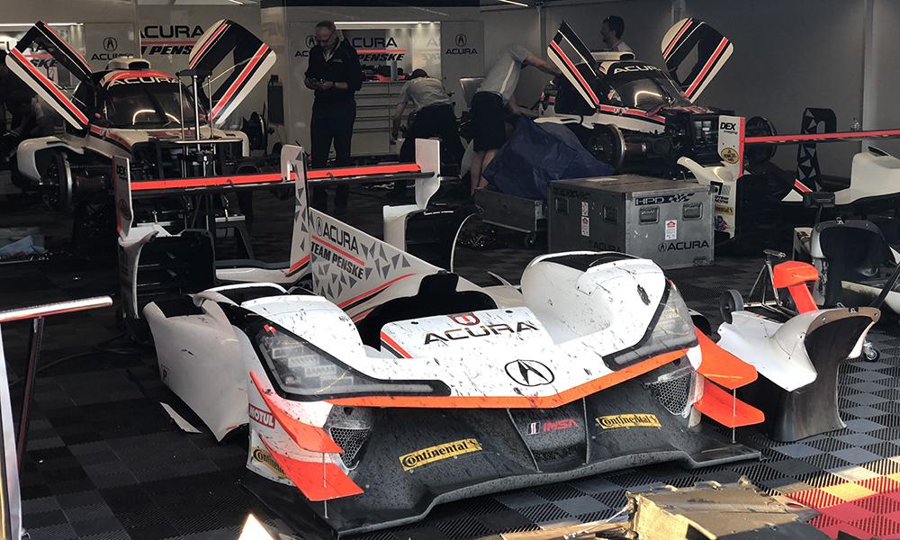 Penske quebra em sua segunda corrida na IMSA. Foto: John Dagys)