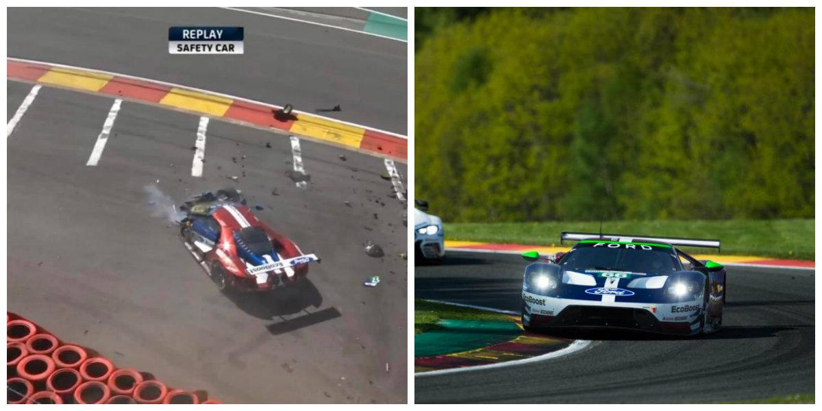 Ford vence na classe GTE-PRO, mas perde o #67. (Fotos: Divulgação e reprodução Youtube)